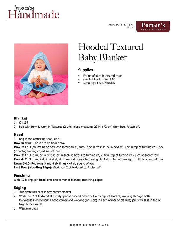 Hooded Textured Baby Blanket