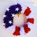Patriotic Flower Wreath