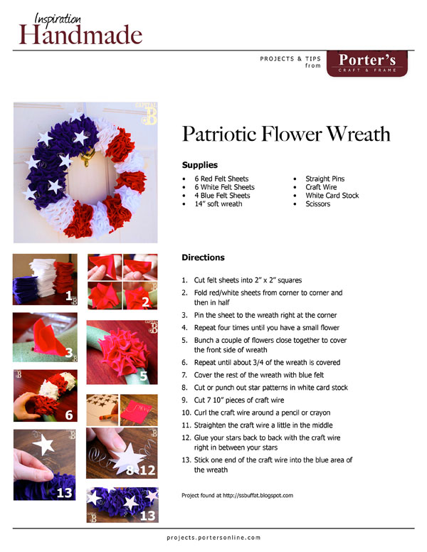 Patriotic Flower Wreath