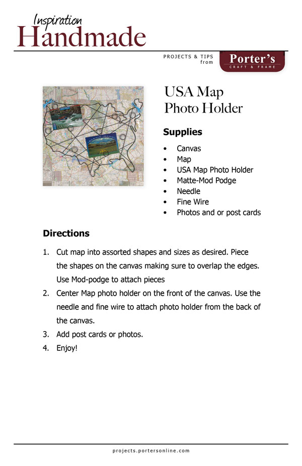 USA Map Holder