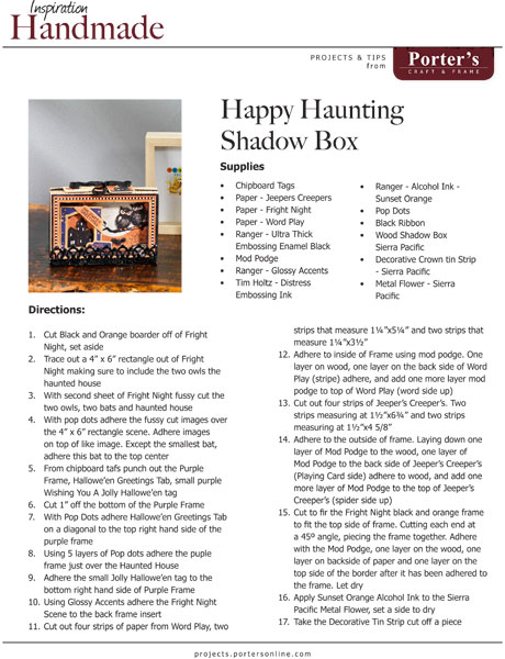 happy haunting shadow box