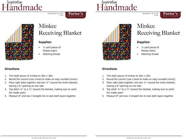 Minkee Receiving Blanket