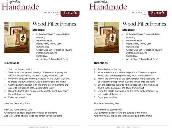 Wood Fillet Frames