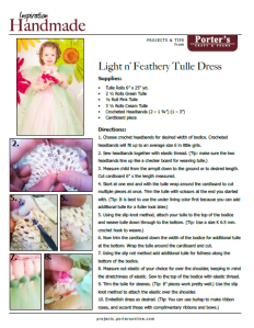 Tulle Dress Project Sheet