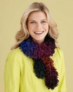Free Knitting Pattern: Bellini Foxy Scarf